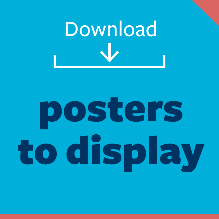 graphic button: download posters to display