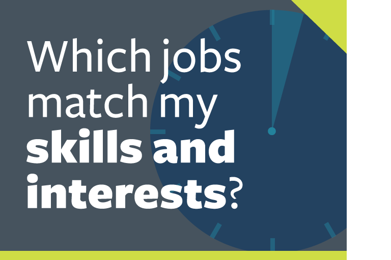 "word graphic: ""which jobs match my skills and interests?"""