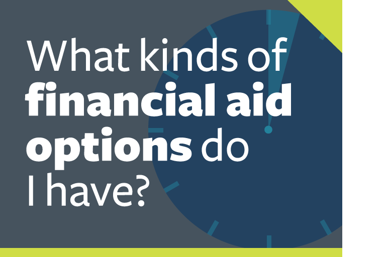 "word graphic: ""what kinds of financial aid options do i have?"""