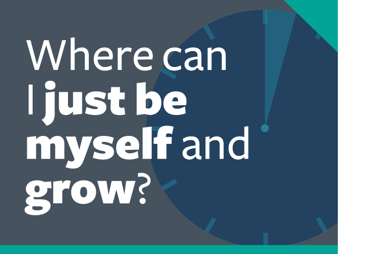 "word graphic: ""where can i just be myself and grow?"""